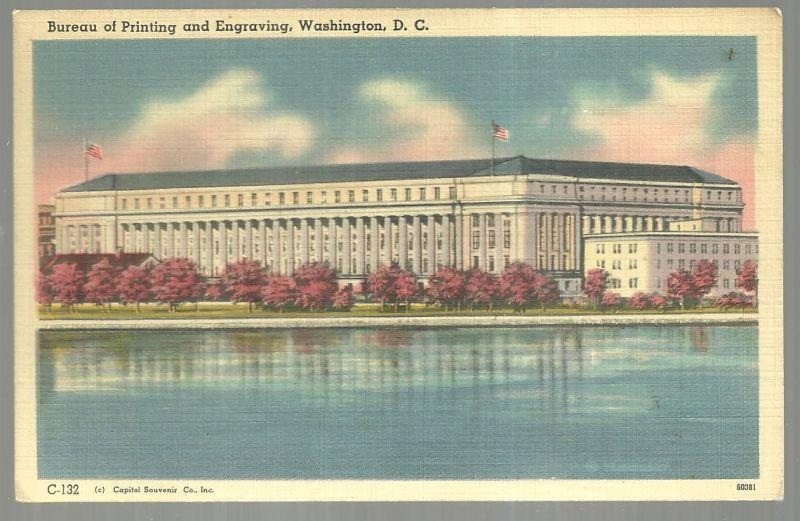 Vintage Unused  Postcard of Bureau of Printing and Engraving, Washington D. C