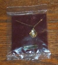 Vintage Cultured Pearl in an Open Shell Necklace Still in Package