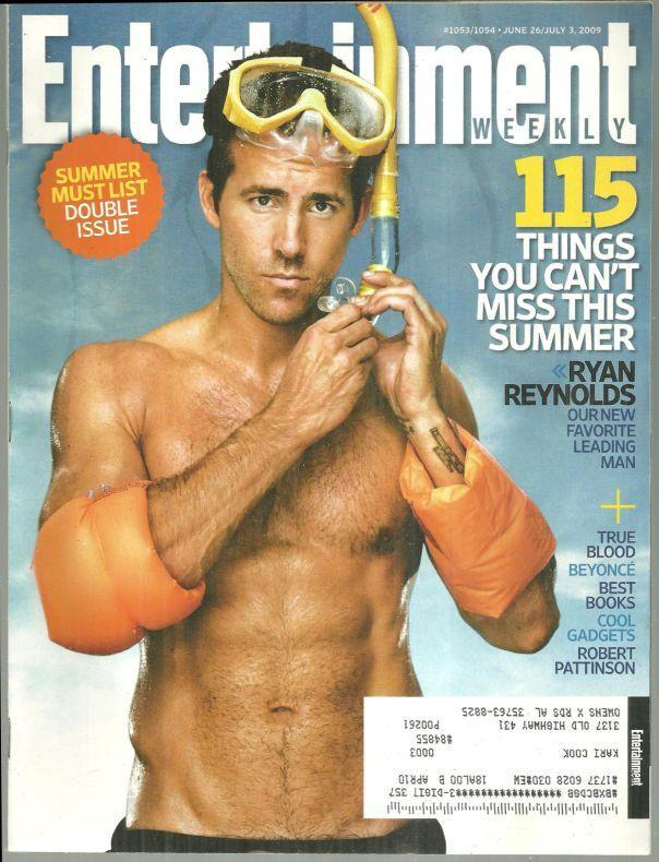 Entertainment Weekly Magazine June 26/July 3 2009 Ryan Reynolds on the Cover