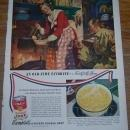1947 Campbell's Soups Life Magazine Advertisement An Old Time Favorite