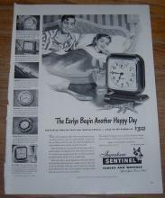 1947 Ingraham Sentinel Clocks and Watches Life Magazine Advertisement