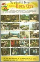 Vintage Unused Jumbo Postcard of Your Guide Through Rock City Gardens Tennessee