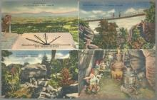Vintage Unused Jumbo Postcard of Four Views From Rock City Gardens Tennessee