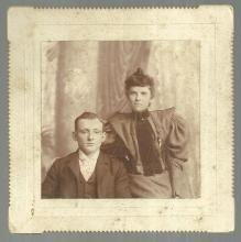 Cabinet Card of Young Couple, Goodwin's Studio, Providence, Rhode Island