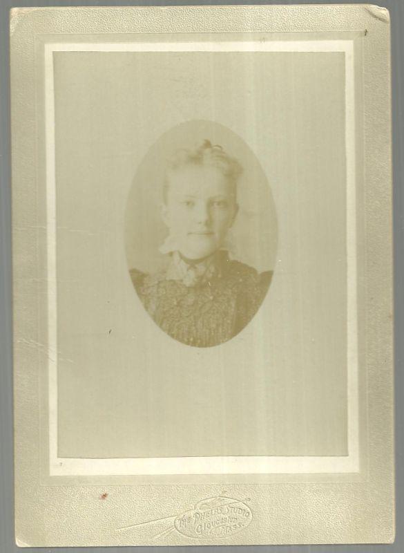 Cabinet Card of Harriet Stark Mitchell, Phelps Studio Gloucester, Massachusetts