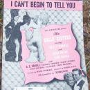I Can't Begin to Tell You From Dolly Sisters w/Betty Grable 1945 Sheet Music