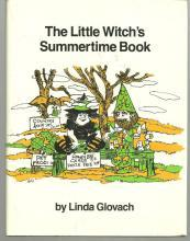 Little Witch's Summertime Book by Linda Glovach 1986 1st edition with DustJacket