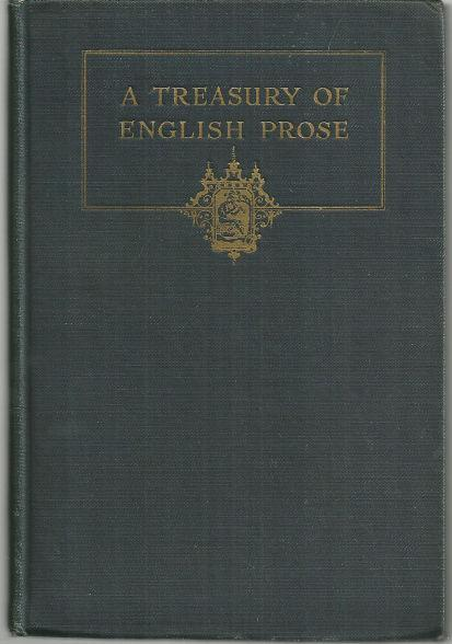 Treasury of English Prose Edited by Logan Pearsall Smith 1920 1st edition