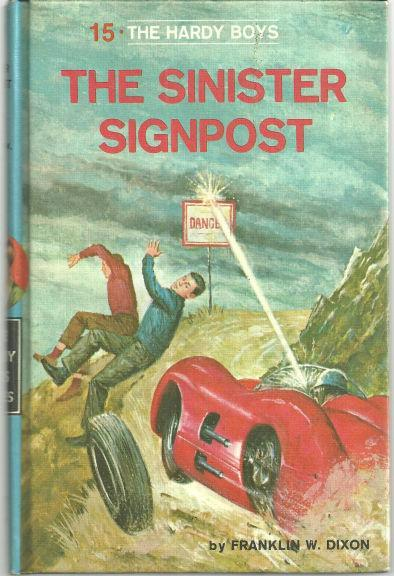 Sinister Sign Post by Franklin Dixon Hardy Boys #15 Matte Blue Cover 1968
