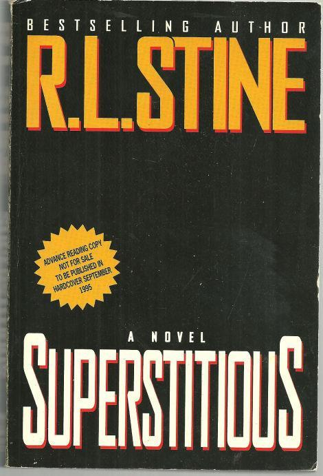 Superstitious by R. L. Stine 1995 Advance Review Copy Horror Novel