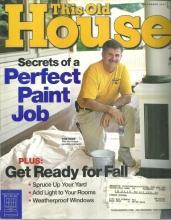 This Old House Magazine September 2003  Secrets of a Perfect Paint Job Cover