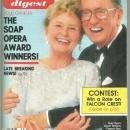 Soap Opera Digest September 24, 1985  Frances Reid and Macdonald Carey from Days