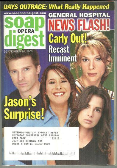 Soap Opera Digest Magazine September 20, 2005 General Hospital News on the Cover