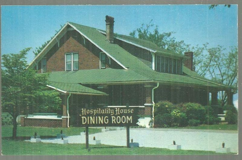 Postcard Hospitality House Dining Room Adjoining Monte Plaza Motel Huntsville AL
