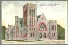 Postcard of New Congregational Church, Fond du Lac, Wisconsin