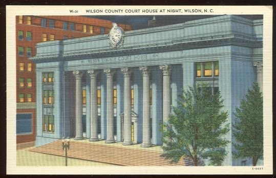 Postcard of Wilson County Courthouse Wilson, NC