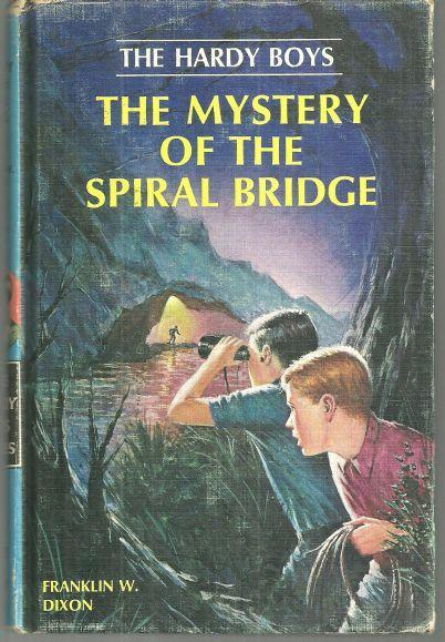 Mystery of the Spiral Bridge by Franklin Dixon Hardy Boys #45 Matte Blue Cover