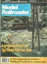 Model Railroader Magazine October 1983 Model Railroad Club/Southern Pacific