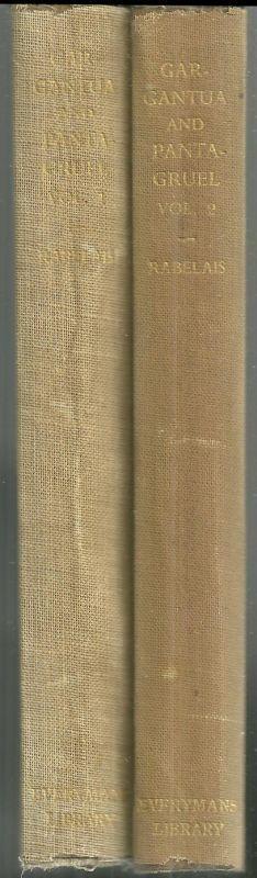 Gargantua and Pantagruel Two Volumes by Francois Rabelais 1941 Everyman's Lib