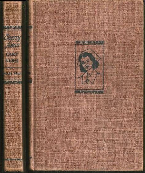 Cherry Ames Camp Nurse by Helen Wells 1957 Girl's Series #19 Red Tweed Cover