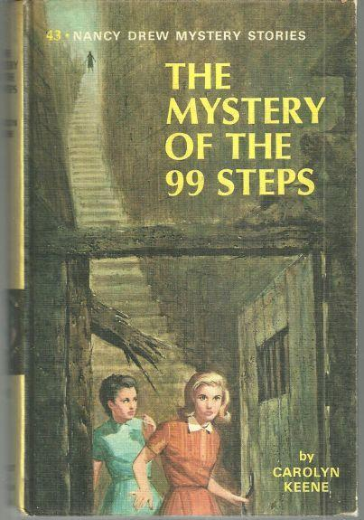 Mystery of the 99 Steps by Carolyn Keene Nancy Drew #43 1966 Yellow Matte