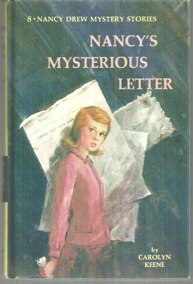 Nancy's Mysterious Letter by Carolyn Keene Nancy Drew #8 1968 Yellow Matte