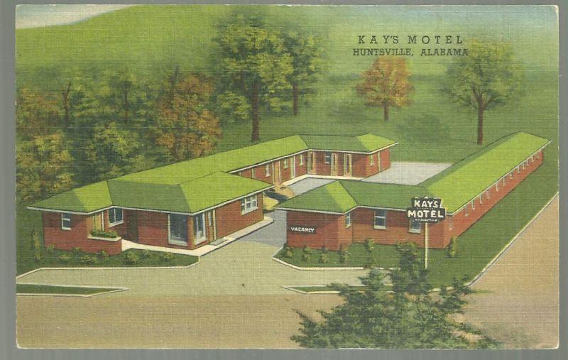 Postcard of the Kay's Motel, US 231-241 South Huntsville, Alabama 1955