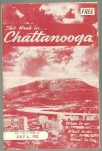 Souvenir Brochure for This Week in Chattanooga, July 6, 1952 What to See and Do