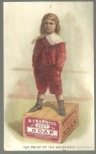 Victorian Trade Card for B.T. Babbit's Soap with Little Boy and The Man Poem
