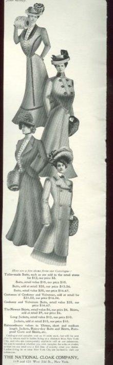 National Cloak Company 1901 Advertisement