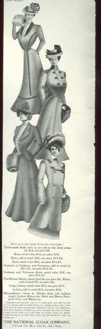 National Cloak Company 1901 Advertisement
