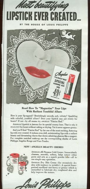 1943 World War II Louis Philippe Magazine Advertisement
