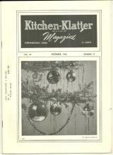 Kitchen Klatter Magazine December 1960 Holiday Recipes/Christmas 100 Years Ago