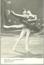 Photograph of Rudolf Nureyev and Svetlana Beriosova Black Swan Pas de Deux