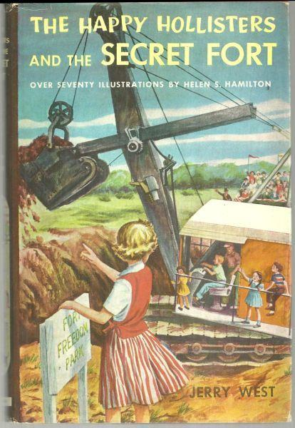 Happy Hollisters and the Secret Fort by Jerry West Series #9 with Dust Jacket