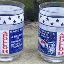 Set of Two Vintage Apollo 13 Safe Return Aquarius Space Drinking Glasses