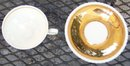 RW Bavaria Gold Lustre Demi Cup and Saucer