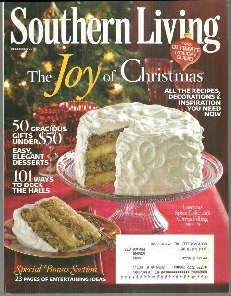 Southern Living Magazine December 2010 Joy of Christmas On Cover/Nashville, TN