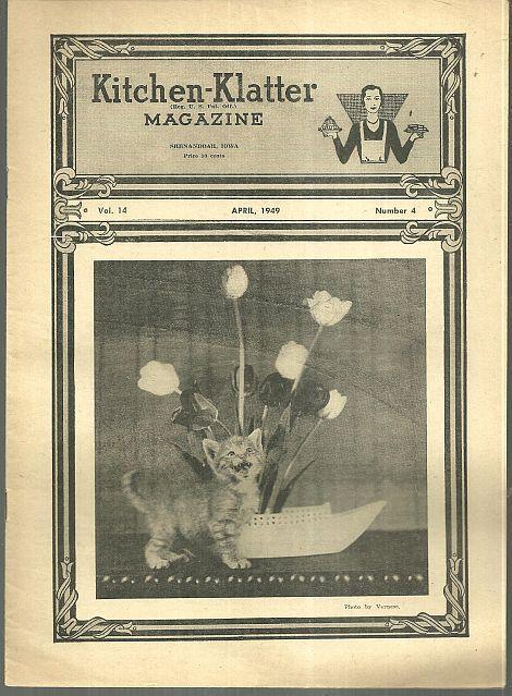 Kitchen Klatter Magazine April 1949  April Activities for the Gardener/Easter