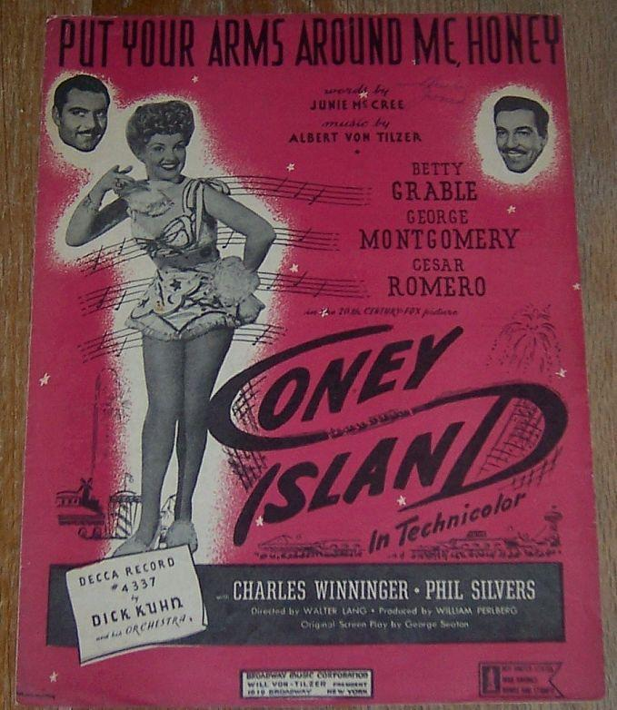 Put Your Arms Around Me Honey Sung by Betty Grable in Coney Island 1937 Music