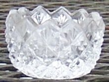 Clear Diamond and Sunburst Open Individual Salt