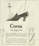 Freezone Lifts Corns 1921 Magazine Advertisement