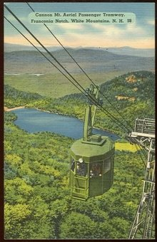 Postcard of Cannon, Mt. Aerial Passenger Tramway, NH