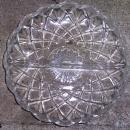 Vintage Clear Glass Waffle Pattern Divided Relish Dish