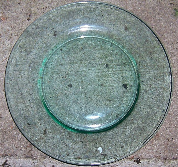 Vintage Green Glass Luncheon Plate