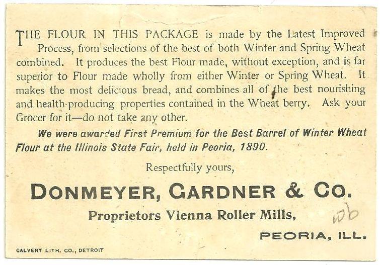 Victorian Trade Card Vienna Roller Mills Flour With Birds in a Snowy Landscape