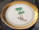 Large Atlas China Miami, Florida 22 KT Serving Plate