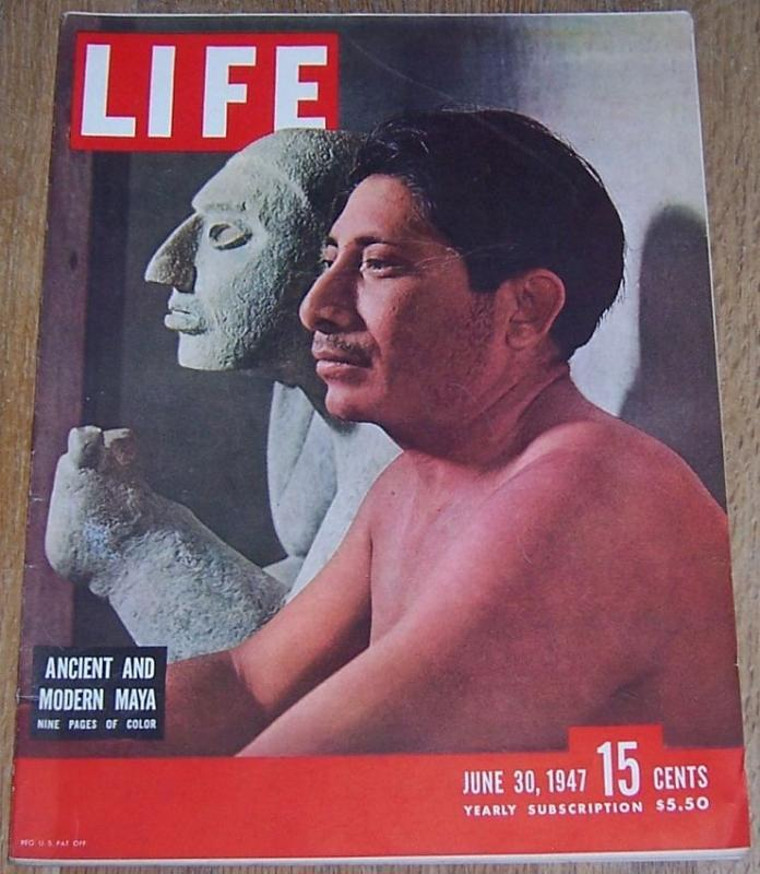 Life Magazine June 30, 1947 Maya on Cover/Evita Peron/White Rock Psyche Art