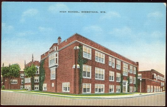 Postcard of High School, Sheboygan, Wisconsin