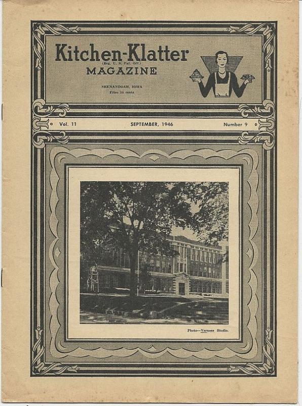 Kitchen Klatter Magazine October 1963 Black Magic/Halloween/Parties/Recipes